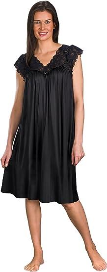 Shadowline Womens Womens Silhouette 53 Inch Short Cap Sleeve Long Gown Nightgown