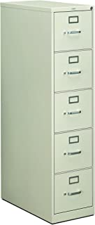 product image for HON 215PQ 210 Series 28-1/2-Inch 5-Drawer Full-Suspension Letter File, Light Gray