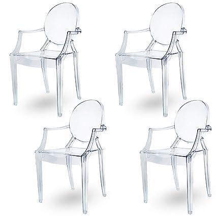 Spirit Transparente Ghost sedia per sala da pranzo, poltrona design ...
