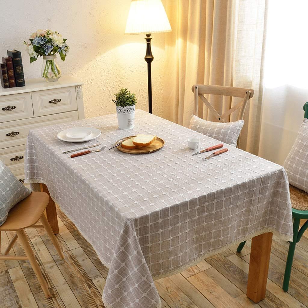 E 130200cm Nappe en coton et lin brodé frais et simple Nappe en tissu et table basse en tissu (Couleur   H, taille   130  170cm)