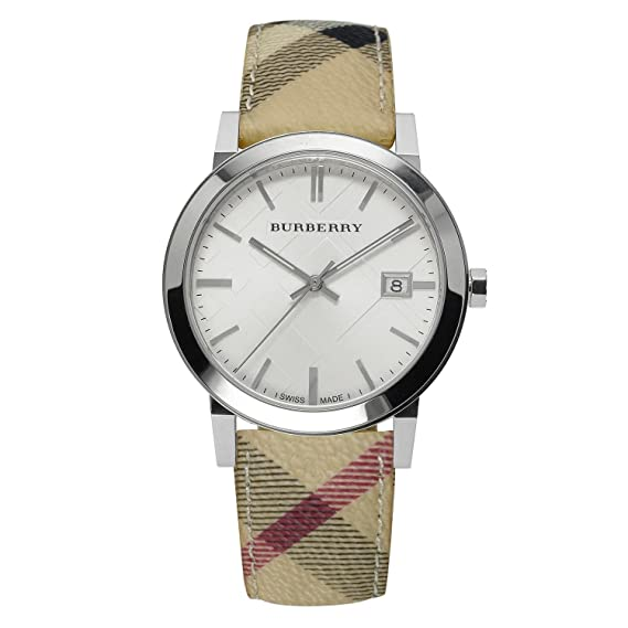 7aa92ed02d Burberry BU9025 Watch – for Women, Leather Strap: Amazon.ca: Watches