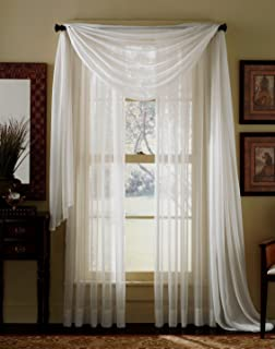 3 panel window curtains grommet piece beige sheer voile curtain panel set panels and scarf amazoncom gorgeous home 3pc taupe tan voile sheer window curtain