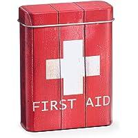 Zeller 'Medicinal First Aid–Caja, Metal, Color Rojo, Rojo/Blanco