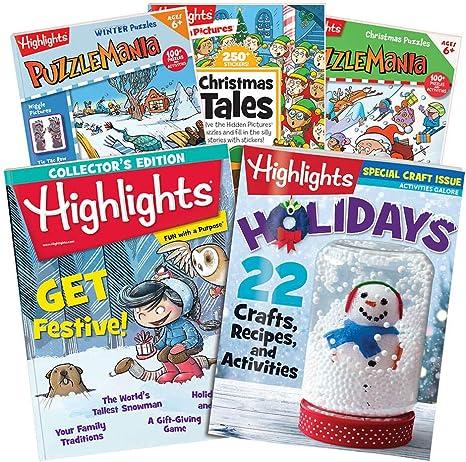 Highlights Juego de 6 Piezas de Navidad para niños y niñas de 6 a ...