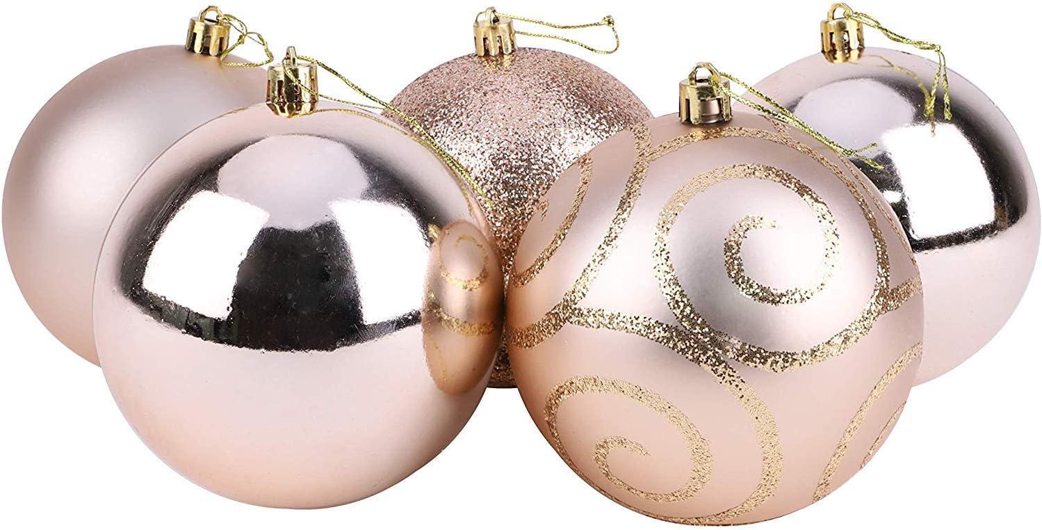 Design Brillant Christmas Concepts Grandes Boules 5-100mm D/écorations de No/ël/… Champagne Mat et Paillettes