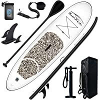 Feath-R-Lite Stand Up Paddle Board 10'x30''x6'' Ultra-Light (16.7lbs) ISUP with Inflatable Paddleboard Accessories,Three…