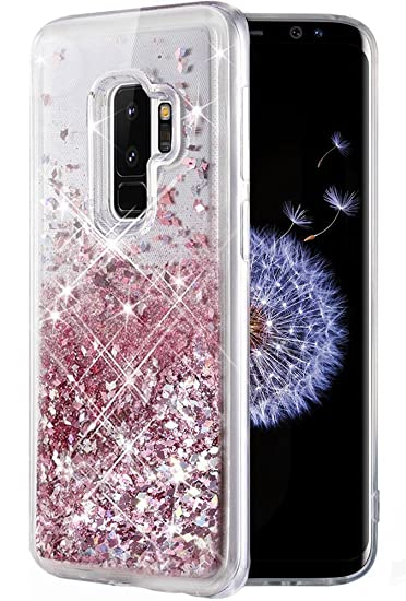 buy online 2841a e1adb Caka Galaxy S9 Plus Case, Galaxy S9 Plus Glitter Case Liquid Series Luxury  Fashion Bling Flowing Liquid Floating Sparkle Glitter Soft TPU Case for ...