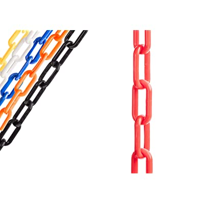 US Weight Chainboss Red Plastic Safety Chain with Sun Shield UV Resistant Technology - 10 ft: Industrial & Scientific