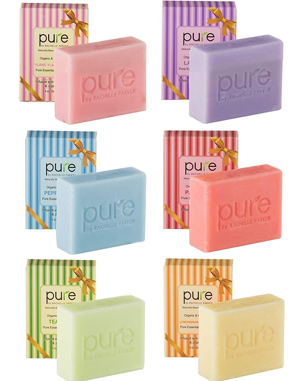 Natural Handmade Essential Oil Artisan Soap Bars. Hypoallergenic, Anti-fungal Moisturizing Shea Butter, Coconut Oil & Jojoba Oil - Body Soap, Face Soap, Bath Soap Bars.Handmade Soap for Women & Men! : Beauty