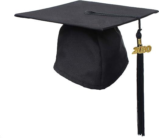 Matte Fabric /& All colors Available Graduation Cap /& 2020 Tassel