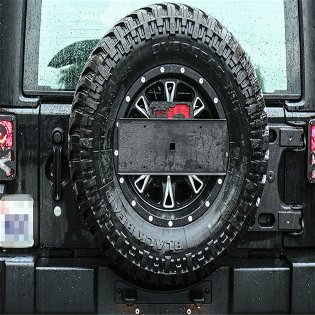 Bevis David Rear Spare Tire License Plate Relocation Bracket Kit Fit For Jeep Wrangler 2007-2016