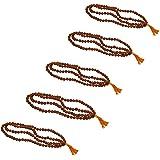 Odishabazaar Rudraksha Mala With Five Mukhi Rudraksha 108 + 1 Beads