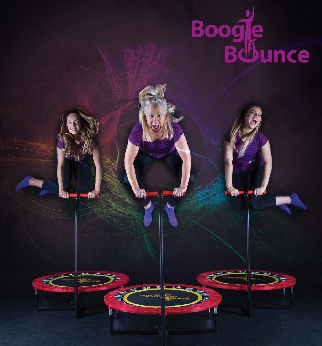 Fitness Trampoline with T-bar Handle by Boogie Bounce (Image #3)