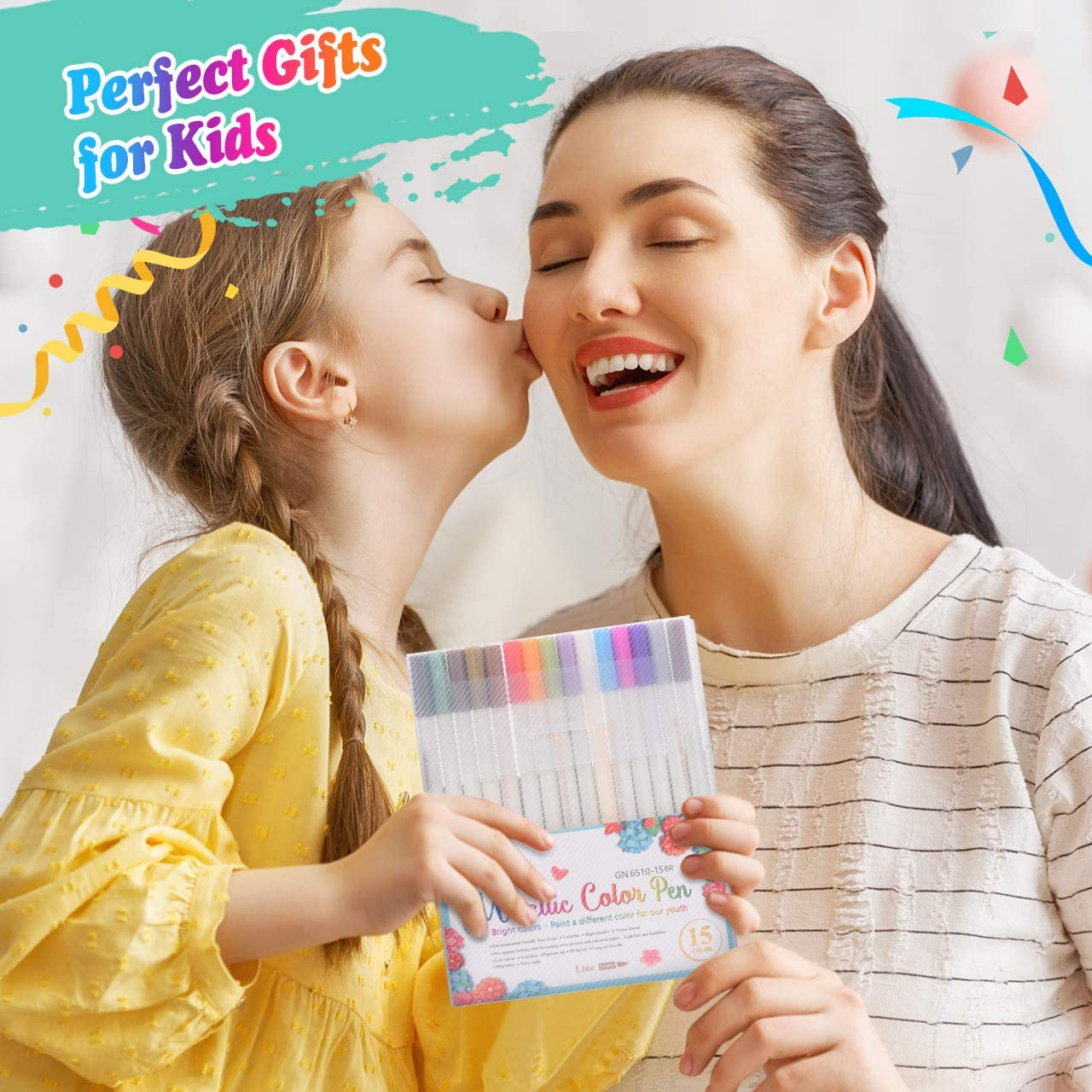Tesoky Paint Pens Art Supplies for Kids Age 3-12 Paint Makers for Rock Glass Wooden Paper Painting Toys for 3-12 Year Old Kids Boys Girls Best Gifts for 3-12 Year Old Boys Girls