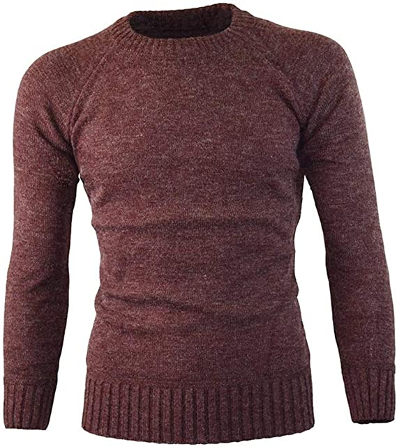 CRYYU Men Plus Size Pullover Solid Cable Knit Turtleneck Long Sleeve Sweaters