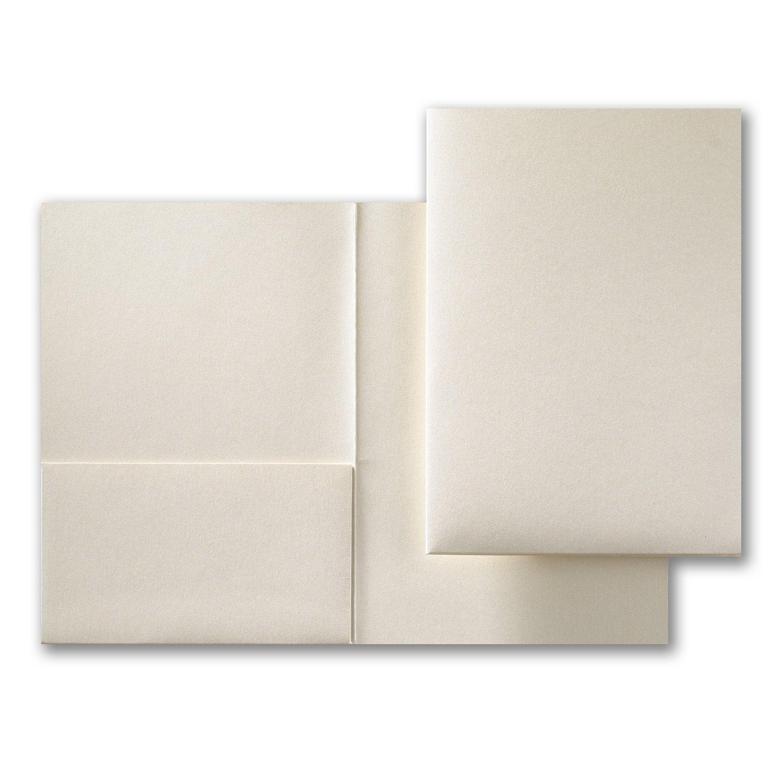 Feine Impressions 250-count ecru Shimmer Pocket Ordner 5 1 10,2 cm X 7 5 16 (rr19255)