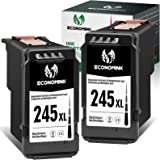 Economink Remanufactured 245XL Black Ink Cartridge Replacement for Canon PG-245XL 245 XL PG-243 Used in Pixma MX492 MX490 TR4