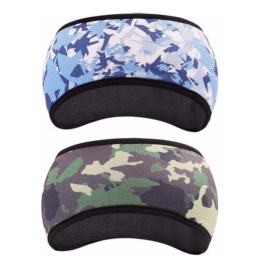 完璧 goyonderフリースThermalヘッドバンド耳ウォーマー耳マフのセット( 2色) B07783N5GH Woodland Blue Camo Camo Woodland Woodland Blue Blue Camo, ビッグウッド:c16e3a1c --- obara-daijiro.com
