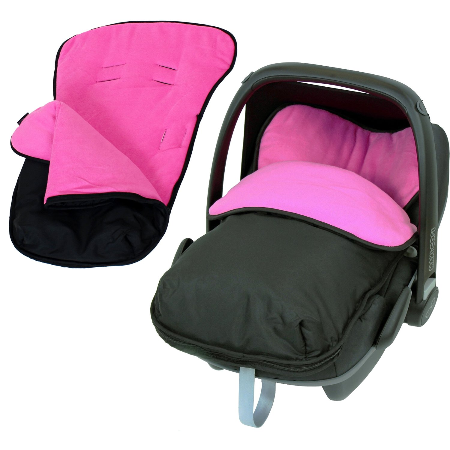 Universal Car Seat Footmuff To Fit Graco Junior Baby - Pink iSafe iSBgtCrsFmPink