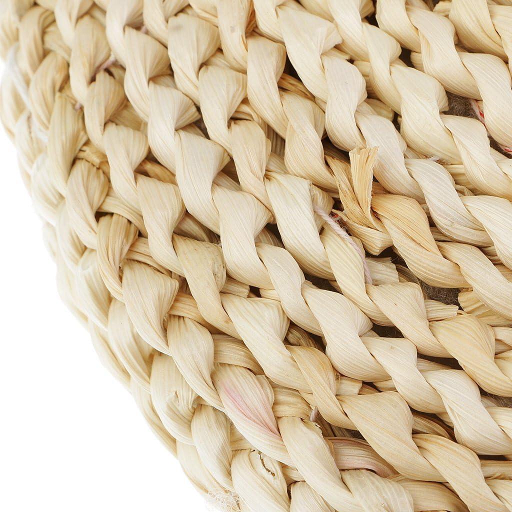 EIF Fei 100/% Natural Straw Braided Zafu Round Pouf Tatami Cushion Floor Cushions Meditation Yoga Round Mat Chair Cushion50cm//19.7inches