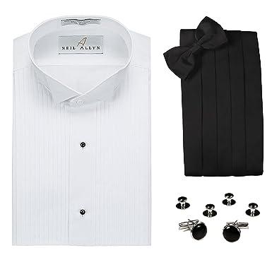 Neil Allyn Tuxedo Shirt Cummerbund Bow Tie Cufflink Studs Set