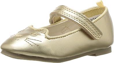 Girls Mary Jane Glitter Cat Face Ballerina Flat Shoes Toddler//Little Kid