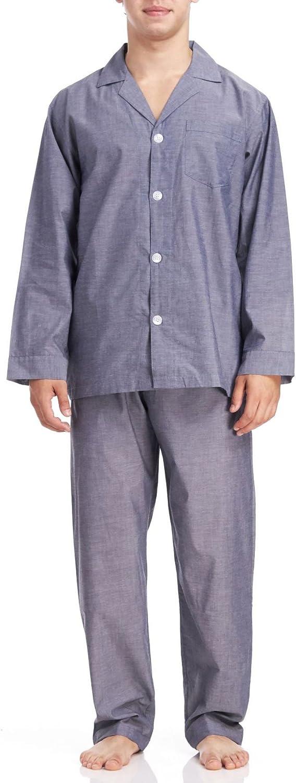 Geoffrey Beene Men's Long Sleeve/Long Leg Solid Pajama Set