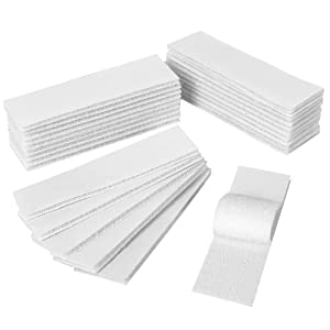 YBWM 24PCS Hook and Loop Tape with Adhesive Double Sided Mounting Strips Removable Wall Sticky Back Fasteners Industrial Strengh Tape for Home Office (White, 1.2x4inch)