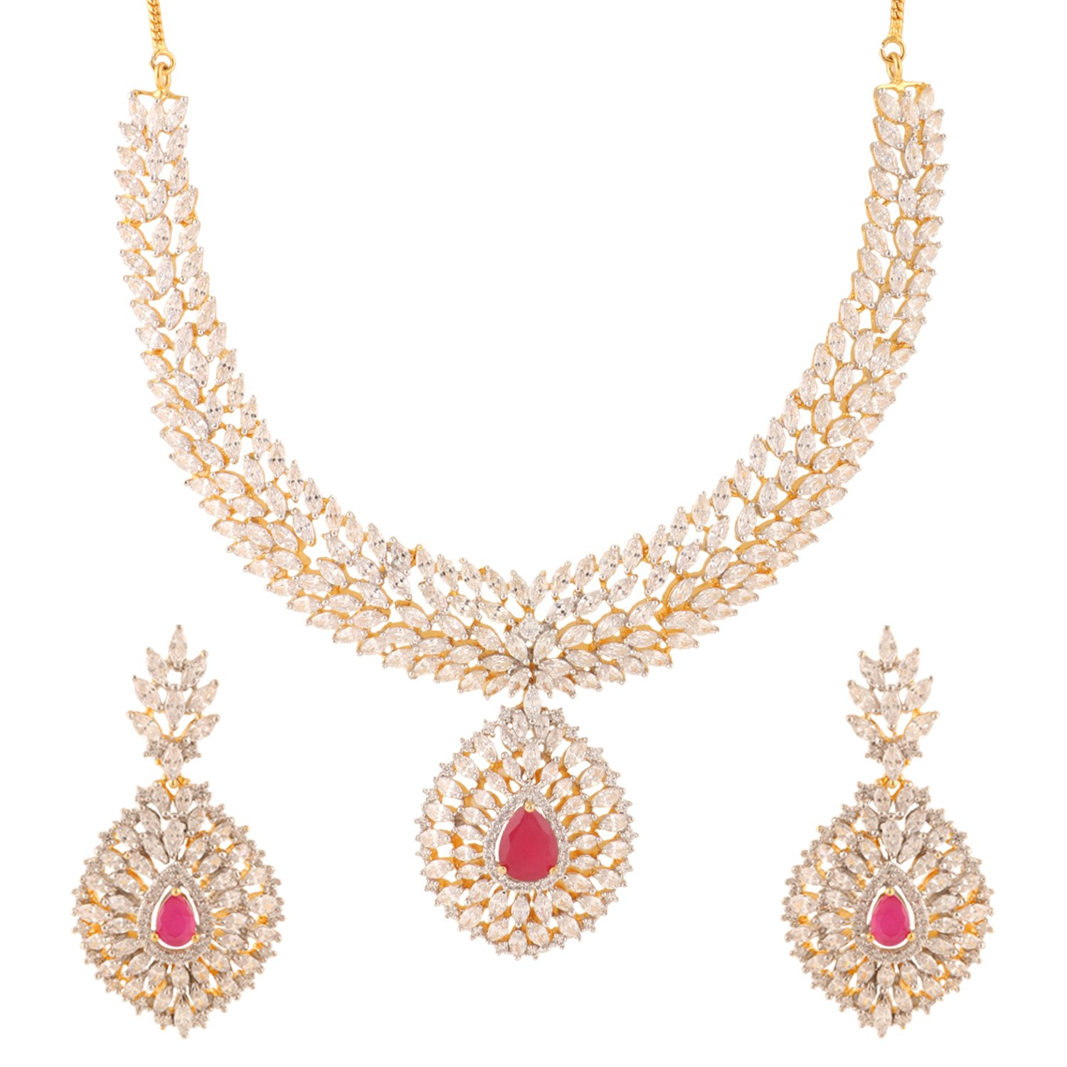 dp and shining jewellery set diva in pearl necklace women fashion for with amazon wear earrings party girls