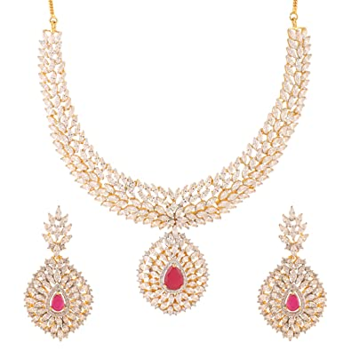 buy swasti jewels american diamond cz zircon fashion jewellery set