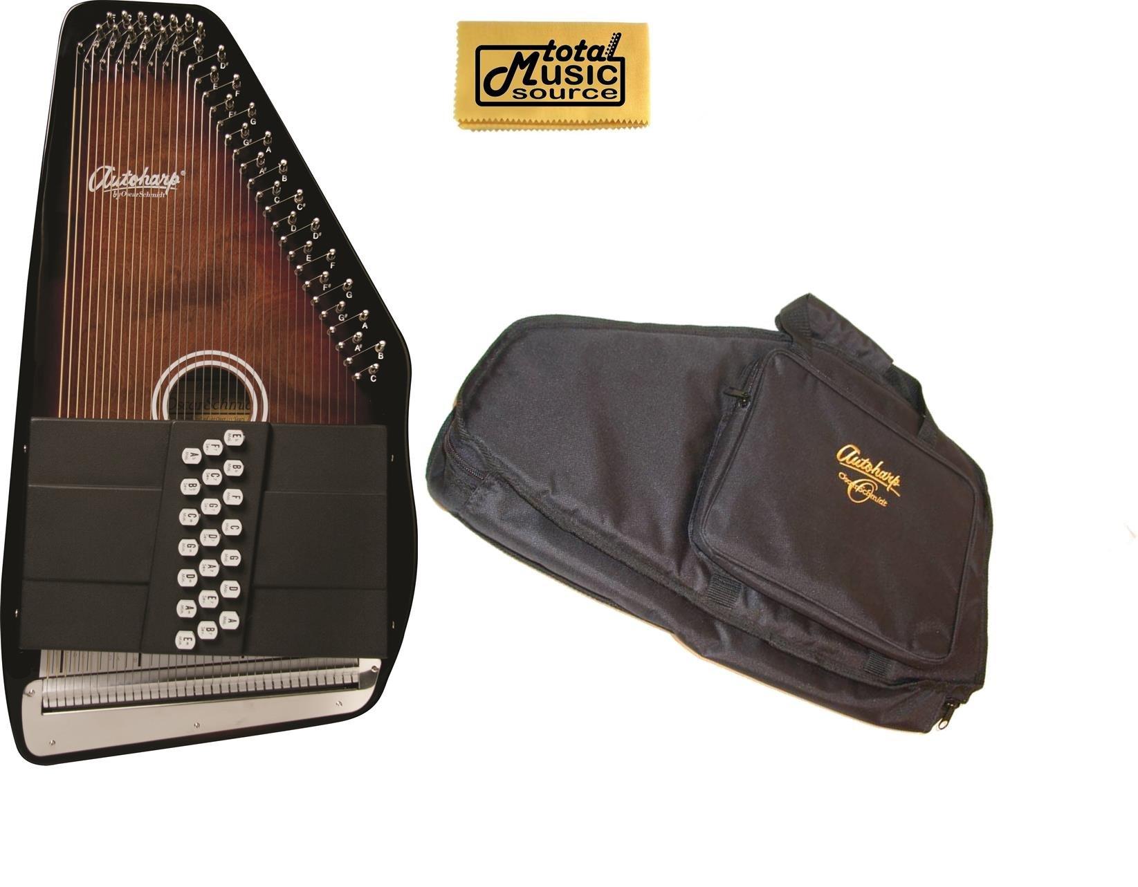 Oscar Schmidt 21 Chord/11 Key A/E Autoharp w/ Gig Bag, Select Maple, OS21CE