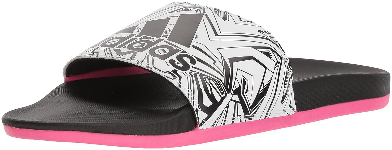 adidas Women's Adilette CF+ Logo W Slide Sandal B075R4B6ZF 9 B(M) US|White/Black/Shock Pink