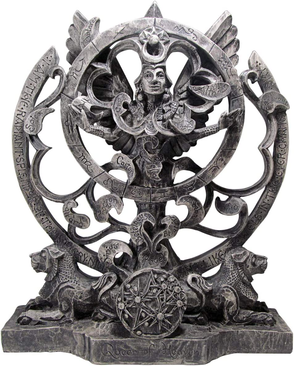 Dryad Design Queen of Heaven Statue Goddess Astarte Astrolabe - Stone Finish