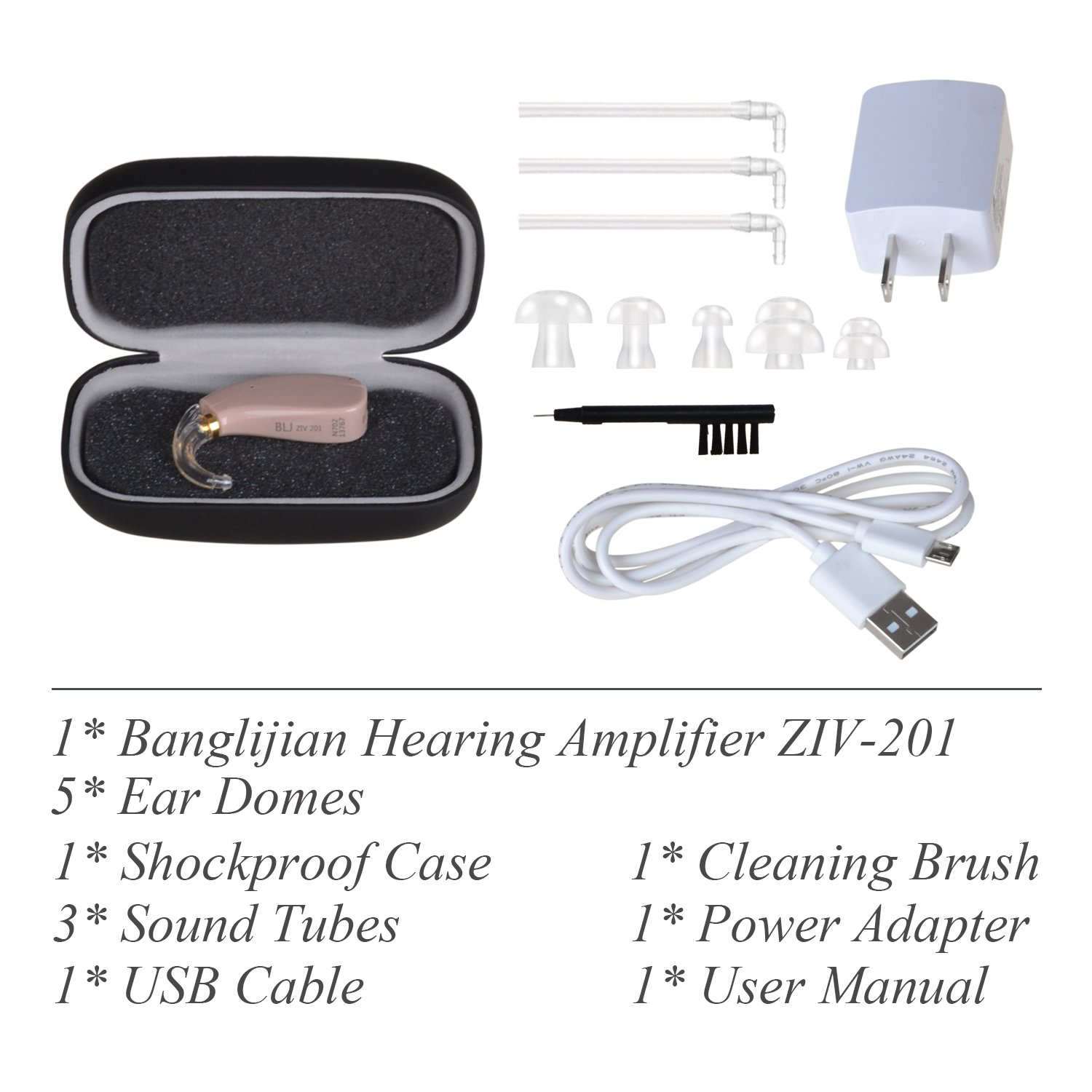 Banglijian Hearing Amplifier Rechargeable Ziv 201 High Living Aids Amplifiers Accessories Quality Digital Bte Small Size Health Personal Care