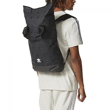18cbf941bd adidas Originals BP Roll Top 3D Mesh 2017 Black Backpack Bag DH0100   Amazon.co.uk  Clothing