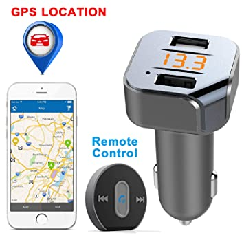 VIDEN Bluetooth FM Transmitter, Bluetooth Car Transmitter, Radio Adapter  Car Kit with Dual USB Ports Handsfree Calling App Vehicle Location GPS MP3
