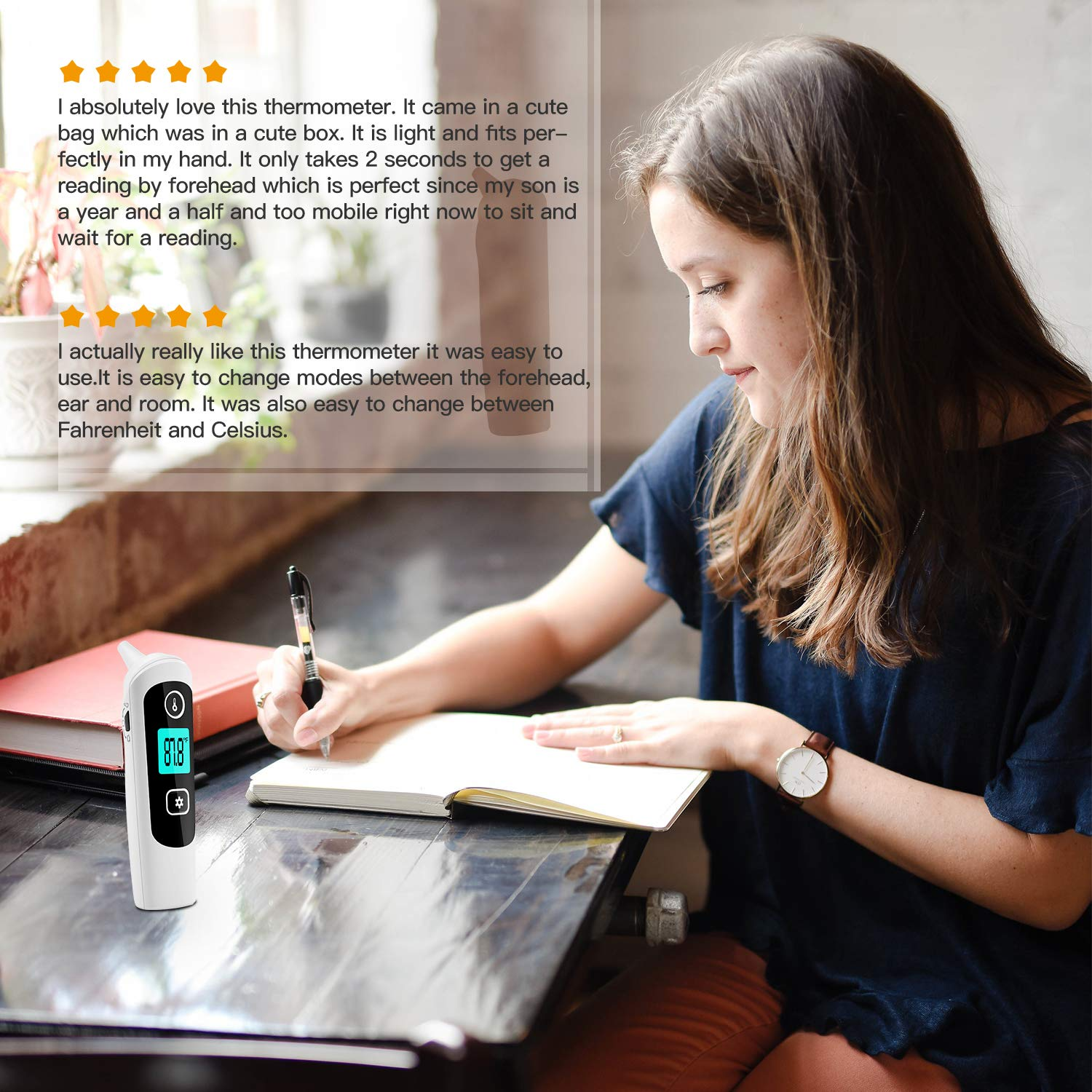 Medical Forehead and Ear Thermometer,Wandwoo 4-in-1 Digital Instant Reading Baby Infrared Thermometer for Fever,32 Memory Function for Adults and Objects with Fever Indicator - CE and FDA Approved by wandwoo (Image #7)