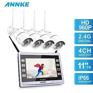 [1280*960P] ANNKE HD WIFI Kit de 4 Cámaras de Vigilancia (CCTV