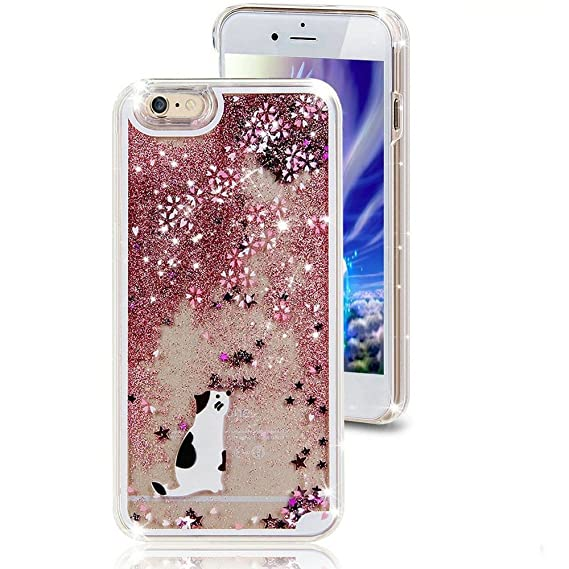 premium selection ade6b a884b iPhone 7 Plus Quicksand Liquid Case, Surpriseyou 3D Creative Bling Shine  Glitter Sparkle Liquid Cute Flowing Floating Moving Sand Case for iPhone 7  ...