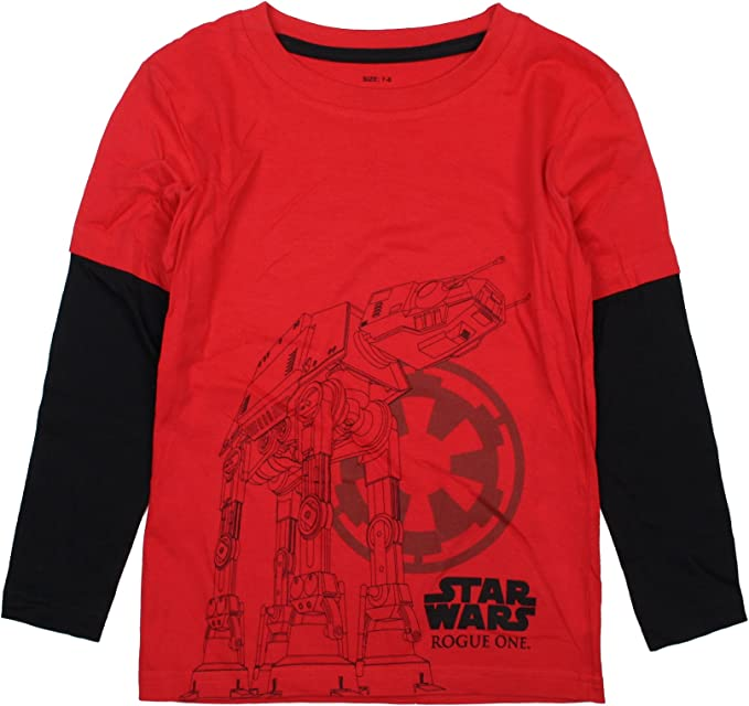 Star Wars Camiseta Manga Larga At-Act Imperial Rojo/Negro 3-4 años (98/104 cm): Amazon.es: Ropa y accesorios