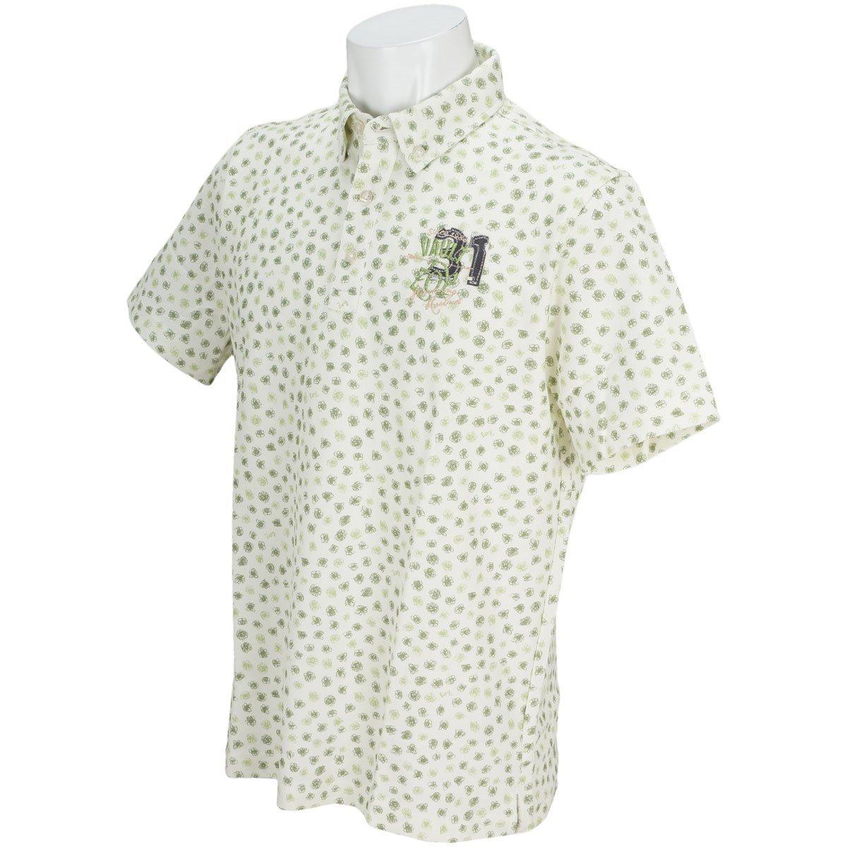 ゾーイ ZOY ポロシャツ 半袖 ボタンダウンシャツ UVカット 吸湿速乾 消臭 抗菌 カノコ素材 小花柄 フラワープリント ゴルフウェア メンズ 071482002 (ピンク(0012), M(1001))   B07B1ZGJKJ
