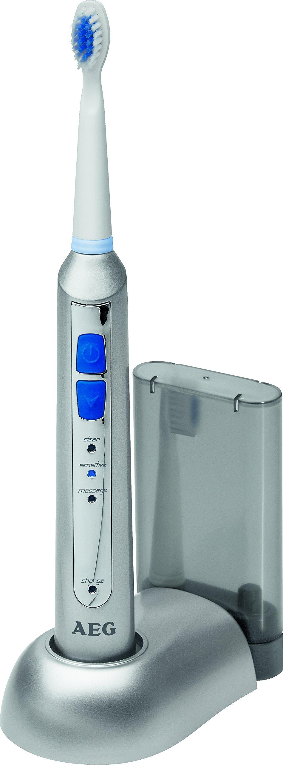 AEG EZS 5664 - Cepillo de dientes con tecnología sónica y temporizador, 5 niveles de