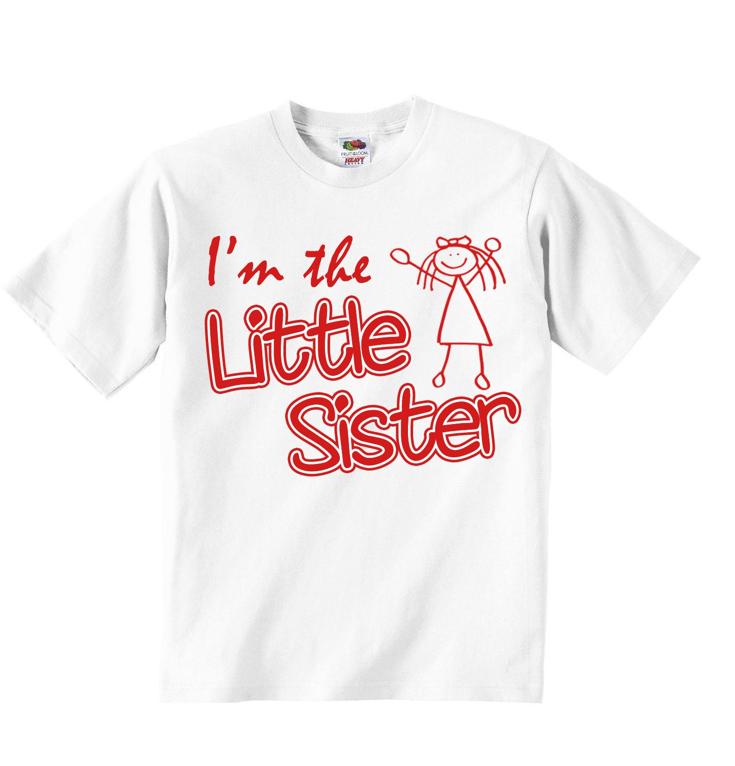 ad37c5f2 Im The Little Sister - Girls T-Shirt Personalized Tees Tshirt Clothing with  Printed Funny Quotes - White - 1-2 Years: Amazon.co.uk: Baby