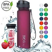 """720°DGREE Trinkflasche """"uberBottle"""" - 1L - Wasserflasche Auslaufsicher - Sportflasche, Schule, Sport, Fahrrad - BPA-Frei - Mit Fruchteinsatz"""