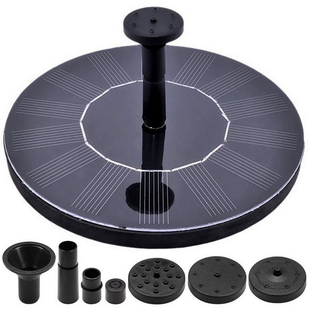 Solar Fountain Circle Garden Solar Water Pump Solar Powered Water Pump, Floating Fountain Pump Solar Panel Kit Water Pump,Outdoor Watering Submersible Pump for Pond, Pool, Garden, Fish Tank, Aquarium Restbuy