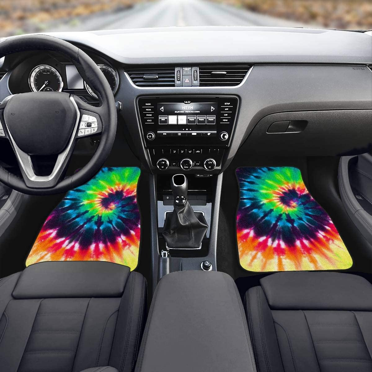 CLOHOMIN Kawaii Flower Sloth Automobile Sedan Floor Foot Mats Rubber Anti-Slip Liners Carpet Dustproof