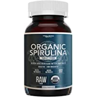 Organic Spirulina Tablets – Highest Nutrient Density & Purest Spirulina in World, Guaranteed - Raw Certified, 4 Organic Certifications, Non-Irradiated (120 Tablets)