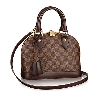 756277557b53 Authentic Louis Vuitton Damier Alma BB Cross Body Handbag Article  N41221  Made in France  Handbags  Amazon.com