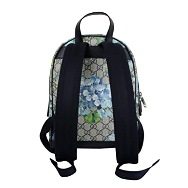 a1e15b1aa0aa Amazon.com  Gucci Unisex Beige Blue Bloom GG Coated Canvas Small Backpack  with Box 427042 8493  Clothing