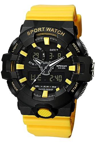 Reloj Deportivo Digital para Hombre con cronómetro Militar y Esfera Grande, Reloj Militar: Amazon.es: Relojes